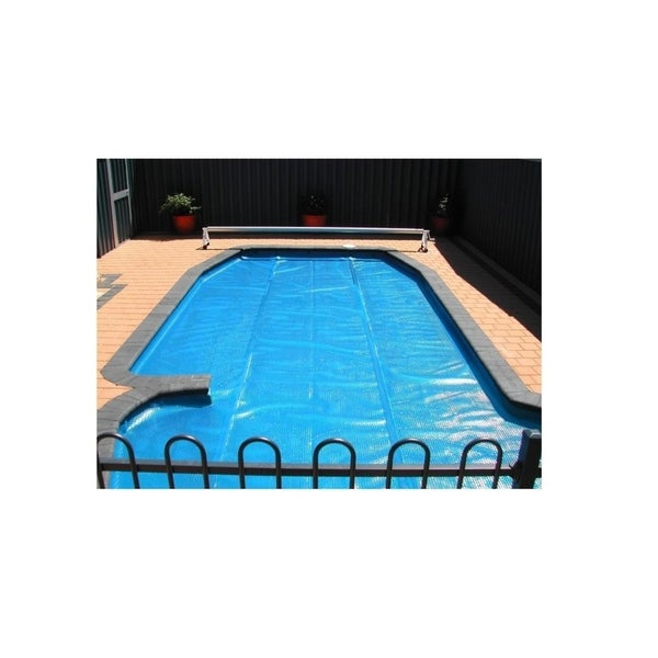 28' Round Heat Wave Solar Blanket Swimming Pool Cover - Blue