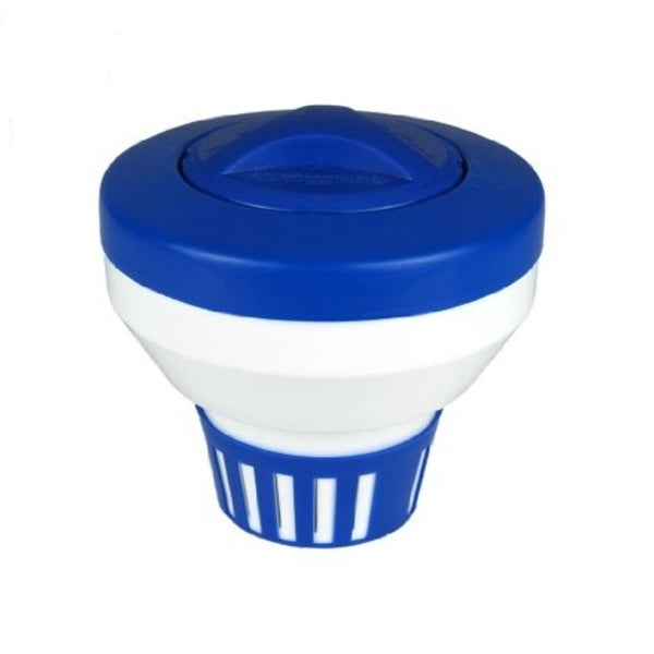 """7.5"""" Classic Blue and White Floating Swimming Pool Chlorine Dispenser"""