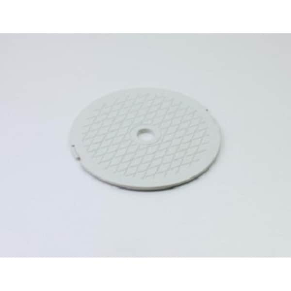 "7.75"" White Decorative Diamond Pattern Swimming Pool Skimmer Cover"