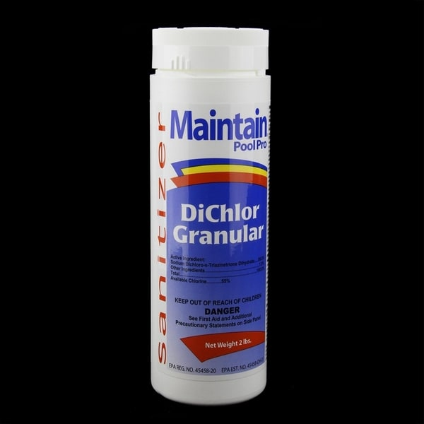 Maintain Pool Pro Sanitizer Concentrated Stabilized Chlorinating DiChlor Granular 2lbs - White