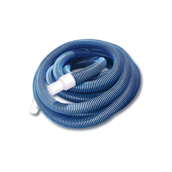 """Blue Extruded EVA In-Ground Swimming Pool Vacuum Hose with Swivel Cuff - 35' x 1.5"""""""