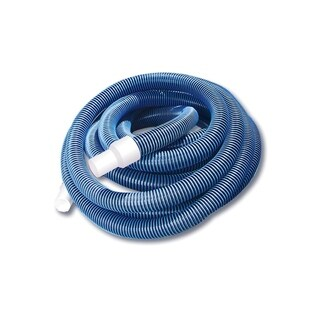 Blue Extruded EVA In-Ground Swimming Pool Vacuum Hose with Swivel Cuff - 35' x 1.5""