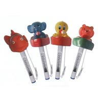 Set of 4 Floating Animal Swimming Pool Thermometers with Cords - Multi-colored