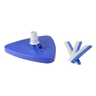 Triangular Swimming Pool Weighted Vacuum with Swivel Cuff - Blue