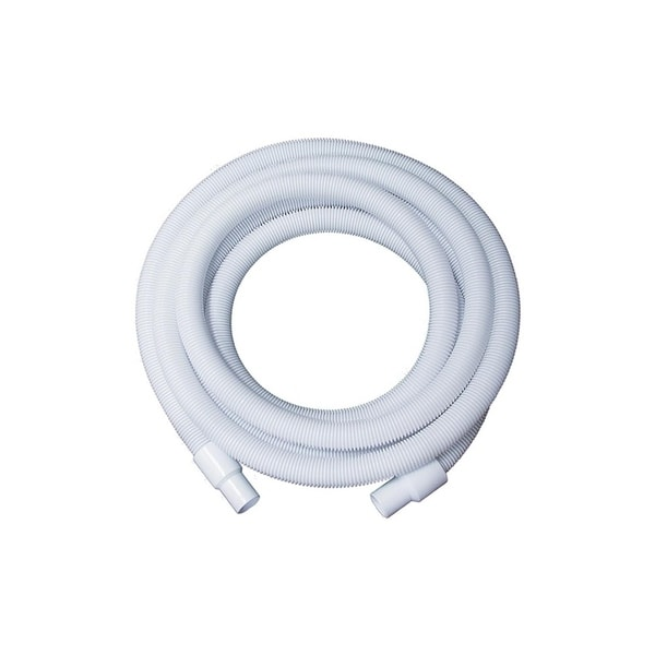 White Blow-Molded LDPE In-Ground Swimming Pool Hose - 75' x 1.25""