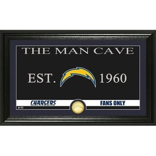 "Los Angeles Chargers ""Man Cave"" Panoramic Bronze Coin Photo Mint - Multi-color"