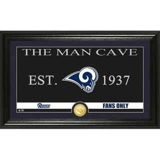 "Los Angeles Rams ""Man Cave"" Panoramic Bronze Coin Photo Mint - Multi-color"