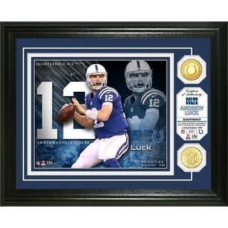 Andrew Luck Bronze Coin Photo Mint - Multi-color