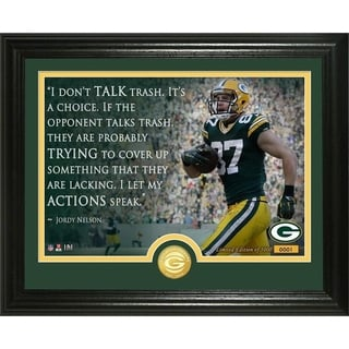 "Jordy Nelson ""Quote"" Bronze Coin Photo Mint - Multi-color"