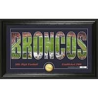 "Denver Broncos ""Silhouette"" Panoramic Bronze Coin Photo Mint - Multi-color"