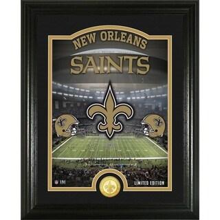 """New Orleans Saints """"Stadium"""" Bronze Coin Photo Mint - Multi-color"""