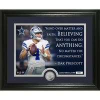 "Dak Prescott ""Quote"" Silver Coin Photo Mint - Multi-color"