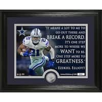"Ezekiel Elliott ""Quote"" Silver Coin Photo Mint - Multi-color"