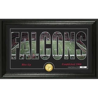 "Atlanta Falcons ""Silhouette"" Panoramic Bronze Coin Photo Mint - Multi-color"