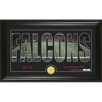 "Atlanta Falcons ""Silhouette"" Panoramic Bronze Coin Photo Mint - Multi-color"