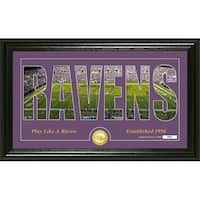 """Baltimore Ravens """"Silhouette"""" Panoramic Bronze Coin Photo Mint - Multi-color"""