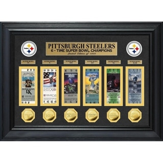 Pittsburgh Steelers 6-Time Super Bowl Champions Deluxe Gold Coin Ticket Collection - Multi-color