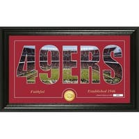 "San Francisco 49ers ""Silhouette"" Panoramic Bronze Coin Photo Mint - Multi-color"