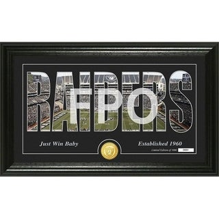 "Oakland Raiders ""Silhouette"" Panoramic Bronze Coin Photo Mint - Multi-color"