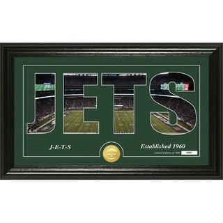 "New York Jets ""Silhouette"" Panoramic Bronze Coin Photo Mint - Multi-color"