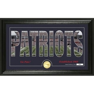 "New England Patriots ""Silhouette"" Panoramic Bronze Coin Photo Mint - Multi-color"