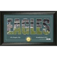 "Philadelphia Eagles ""Silhouette"" Panoramic Bronze Coin Photo Mint - Multi-color"