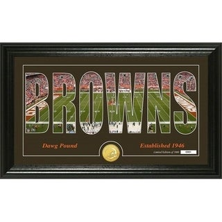 "Cleveland Browns ""Silhouette"" Panoramic Bronze Coin Photo Mint - Multi-color"