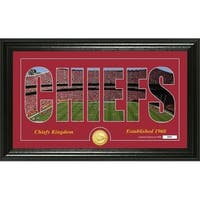 "Kansas City Chiefs ""Silhouette"" Panoramic Bronze Coin Photo Mint - Multi-color"