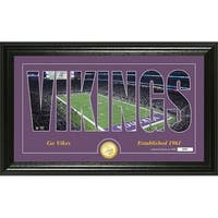 "Minnesota Vikings ""Silhouette"" Panoramic Bronze Coin Photo Mint - Multi-color"