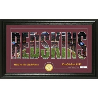 "Washington Redskins ""Silhouette"" Panoramic Bronze Coin Photo Mint - Multi-color"