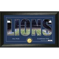 "Detroit Lions ""Silhouette"" Panoramic Bronze Coin Photo Mint - Multi-color"