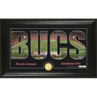 "Tampa Bay Buccaneers ""Silhouette"" Panoramic Bronze Coin Photo Mint - Multi-color"