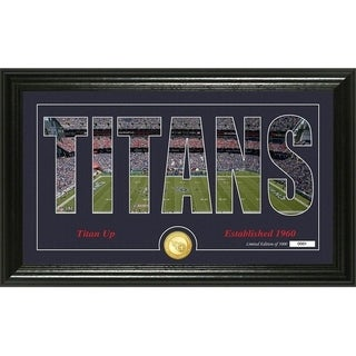 """Tennessee Titans """"Silhouette"""" Panoramic Bronze Coin Photo Mint - Multi-color"""