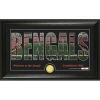 "Cincinnati Bengals ""Silhouette"" Panoramic Bronze Coin Photo Mint - Multi-color"