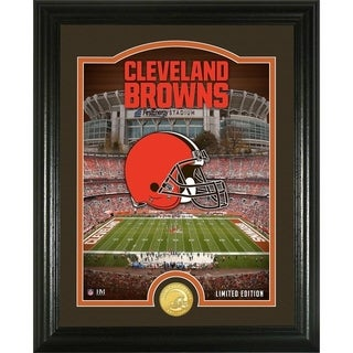 "Cleveland Browns ""Stadium"" Bronze Coin Photo Mint - Multi-color"
