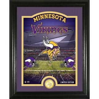 "Minnesota Vikings ""Stadium"" Bronze Coin Photo Mint - Multi-color"