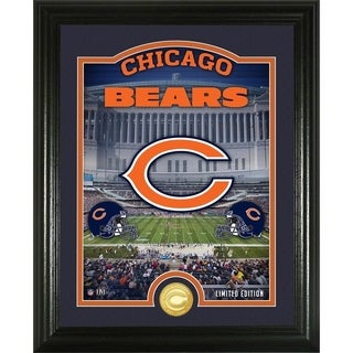 "Chicago Bears ""Stadium"" Bronze Coin Photo Mint - Multi-color"