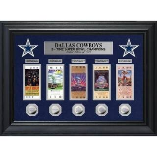 Dallas Cowboys 5 Time Super Bowl Champions Deluxe Silver Coin & Ticket Collection - Multi-color|https://ak1.ostkcdn.com/images/products/16992327/P23275308.jpg?impolicy=medium