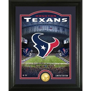 "Houston Texans ""Stadium"" Bronze Coin Photo Mint - Multi-color"