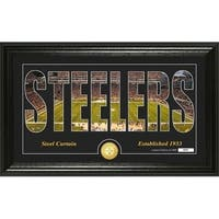 "Pittsburgh Steelers ""Silhouette"" Panoramic Bronze Coin Photo Mint - Multi-color"