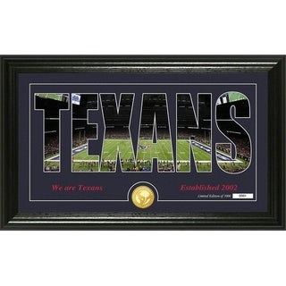 "Houston Texans ""Silhouette"" Panoramic Bronze Coin Photo Mint - Multi-color"