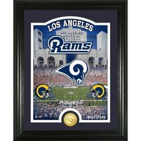 "Los Angeles Rams ""Stadium"" Bronze Coin Photo Mint - Multi-color"