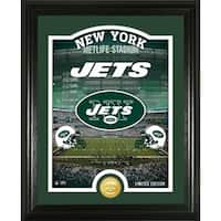 "New York Jets ""Stadium"" Bronze Coin Photo Mint - Multi-color"