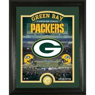 "Green Bay Packers ""Stadium"" Bronze Coin Photo Mint - Multi-color"