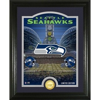 "Seattle Seahawks ""Stadium"" Bronze Coin Photo Mint - Multi-color"