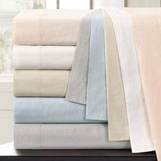 Vintage Washed 200 Thread Count Cotton Percale Pillowcases (Set of 2)|https://ak1.ostkcdn.com/images/products/16992402/P23275353.jpg?impolicy=medium