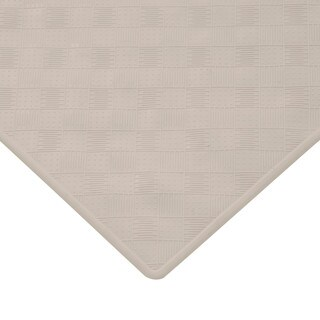 Kenney 27 x 15 Inch Rubber Shower Mat - Taupe