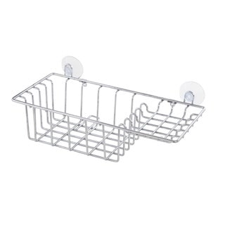 Kenney Basket Shower Caddy with Soap Holder - Chrome