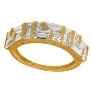Michael Valitutti 10K Baguette & Princess Cubic Zirconia Ring