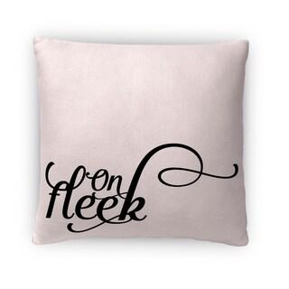 Kavka Designs white on fleek fleece throw pillow
